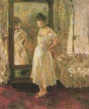 """The Psyché  1876; """"The Cheval Glass"""" by Berthe Morisot"""